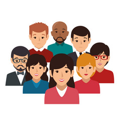 businesspeople character avatar icon vector image