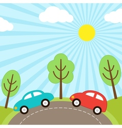 Car background vector image