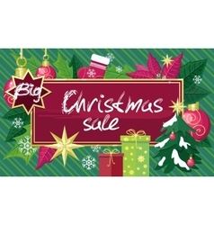 Christmas sale sign design concept vector