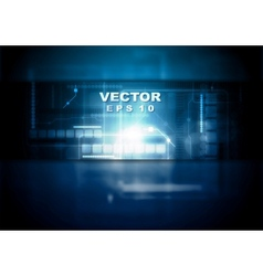 Dark blue tech background vector image vector image