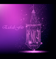Eid al fitr beautiful greeting card with vector