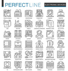 electronic device outline mini concept symbols vector image vector image