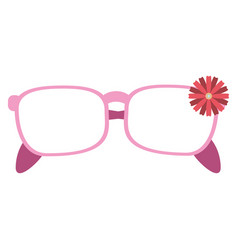 female glasses flower decorative vector image