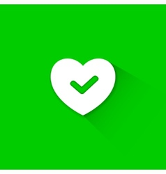 Green good heart icon vector image