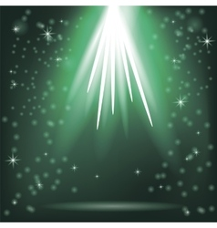 Green rays of magic lights vector