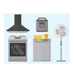 home appliances kitchen equipment domestic vector image