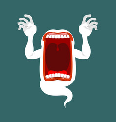 horrible wraith frightening screams scary ghost vector image vector image