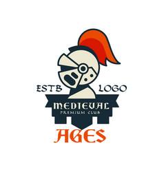 middle ages estb logo premium club vintage badge vector image