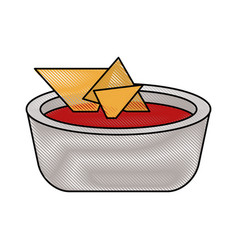 nachos mexican food vector image