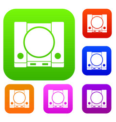 Playstation set collection vector