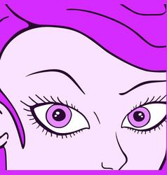 purple woman vector image vector image