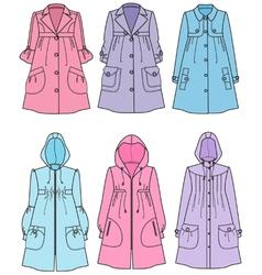 Raincoats vector