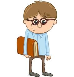 school boy cartoon vector image vector image