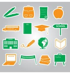 school stickers icon set eps10 vector image vector image