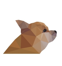 Side view of chihuahua geometric triangular vector