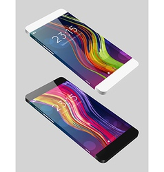template phone in flat style vector image vector image