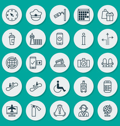 Transportation icons set collection of internet vector