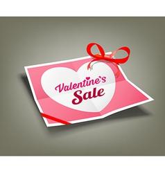Valentines sale origami paper design vector