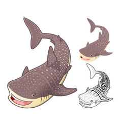 Whale shark vector