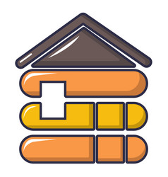 wood house icon cartoon style vector image