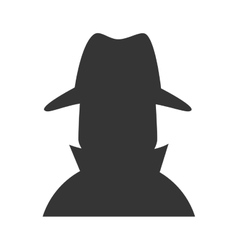 Cowboy detective hat western icon graphic vector