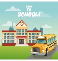 bus building back to school design vector image