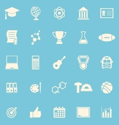 College color icons on blue background vector