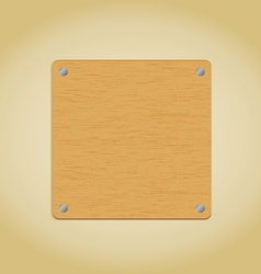 Wooden plate vector image