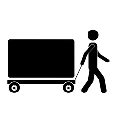 Package delivery worker icon image vector
