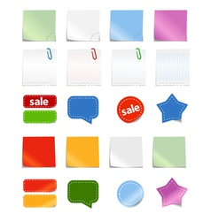 Paper stickers vector