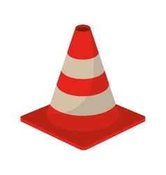 Traffic cone warning sign design vector