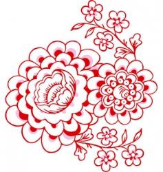 magnolias vector image