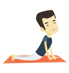 man practicing yoga upward dog pose vector image