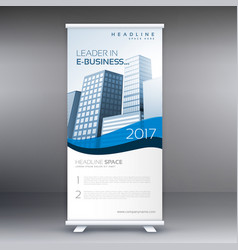 Clean modern roll up banner template for your vector
