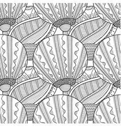 seamless pattern with decorative sea shells for vector image