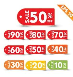 Sale stitch sticker price tag - - EPS10 vector image