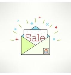 sale envelope in modern flat design Email vector image