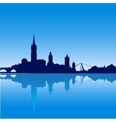 Dublin city skyline silhouette vector