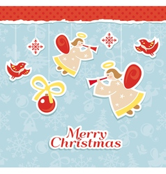 Abstract christmas card vector