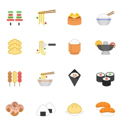 Color icon set - eastern food vector