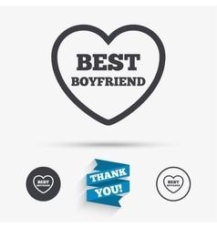 Best boyfriend sign icon heart love symbol vector