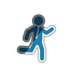 Businessman executive pictogram vector image vector image