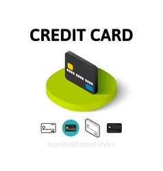 Credit card icon in different style vector