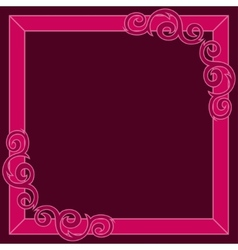 Crimson decorative ornate frame vector image vector image