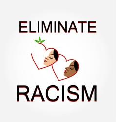 Eliminate racism vector