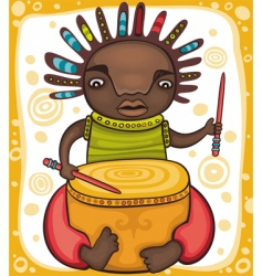 ethnic boy vector image