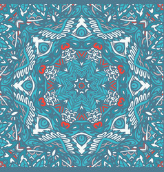 Geometric mosaic ethnic seamless pattern ornament vector