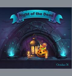 halloween cartoon night ofthe vector image