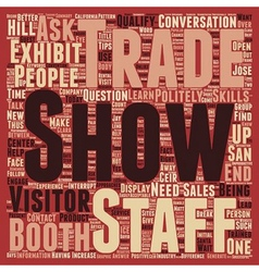 Increase sales at your trade show booth text vector