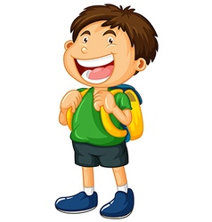 Little boy with big smile vector image vector image